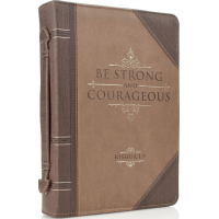 Fourre de Bible - be strong and courageous - Joshua 1.9 - large