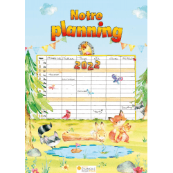 Calendrier Notre planning - mural