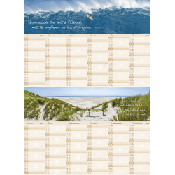 Calendrier planning Nature - mural